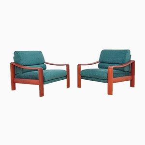 Vintage Teak Armlehnstühle, 1970er, 2er Set