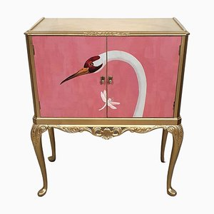 Vintage Cocktail Cabinet Cupboard with Gucci Decoupage