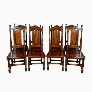Chaises de Salle à Manger Antique en Chêne, Royaume-Uni, Set de 8