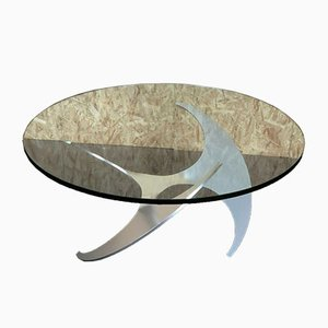 Aluminium Propeller Coffee Table by Knut Hesterberg & Ronald Schmitt, 1960s