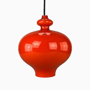 Swedish Orange Ceiling Lamp by Hans-Agne Jakobsson, 1960s