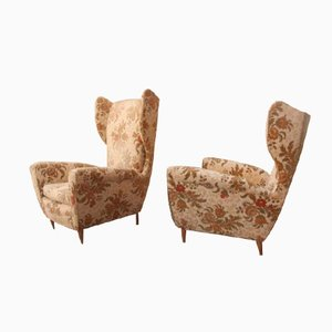 Midcentury Italian His and Hers Armchairs, Set of 2