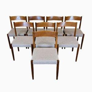 Chaises de Salon en Teck par Poul M. Volther, 1960s, Set de 8