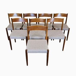 Teak Dining Chairs by Poul M. Volther, 1960s, Set of 8