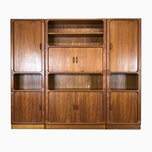 Danish Modern Teak Bookcase Shelving Wall Unit from Dyrlund, 1970s