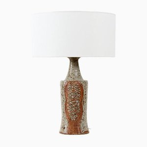 Tall Ceramic Table Lamp by Lene Regius, 1970s