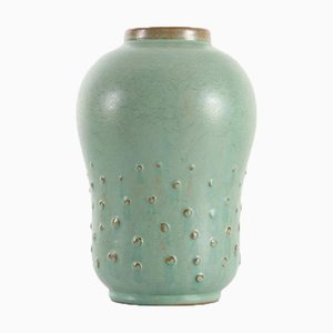 Large Scandinavian Ceramic Gourd Vase with Relief Dots by Ewald Dahlskog for Bo Fajans, 1960s