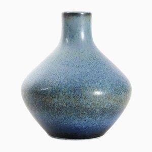 Blaue Skandinavische Keramikvase von Carl-Harry Stalhane für Rörstrand