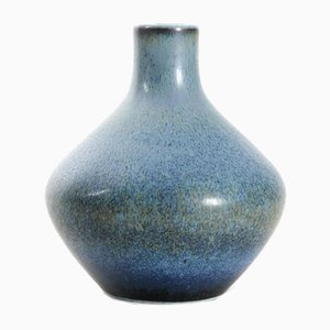 Scandinavian Blue Ceramic Vase by Carl-Harry Stalhane for Rörstrand