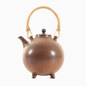 Skandinavische Keramik Teekanne von Gunnar Nylund für Rörstrand, 1960er