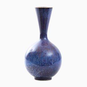 Skandinavische Keramik Steingut Vase von Sven Wejsfelt für Gustavsberg, 1989
