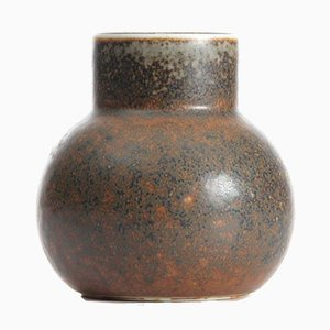 Small Brown Hare's Fur Glaze CEA Vase by Carl-Harry Stalhane for Rörstrand, 1950s