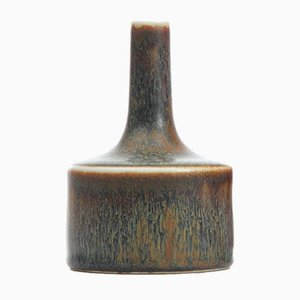 Brown and Blue-Grey Glaze Cabinet Vase by Carl-Harry Stalhane for Rörstrand, 1950s