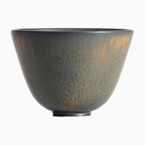 Brown Ochre ARU Bowl by Gunnar Nylund for Rörstrand, 1950s