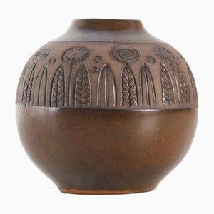 Vase Rond Scandinave en Céramique par Göran Andersson pour Upsala Ekeby, 1960s
