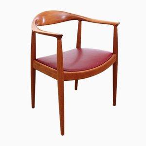 Fauteuil The Chair Scandinave par Hans J. Wegner pour Johannes Hansen, 1949