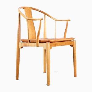 Modell 3283 China Stühle von Hans J. Wegner für Fritz Hansen, 1944, 4er Set