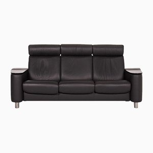 Anthracite Grey Leather Arion 3-Seat Function Sofa from Stressless