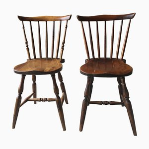 Antique Swedish Dining Chairs, 1920s, Set of 2