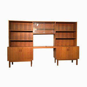 Swedish Modular Teak Shelves, 1960s, Set of 4