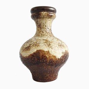 Vaso Fat Lava in ceramica marrone e beige di Dümler & Breiden, anni '70