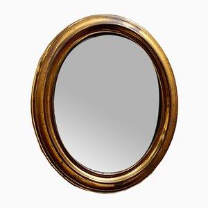 Victorian Brassed Oval Mirror