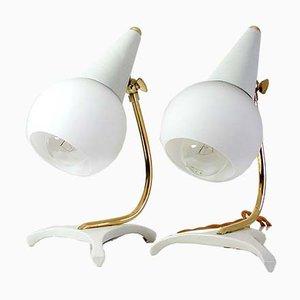Lampes de Bureau Tripodes Mid-Century Style Sputnik, Italie, 1950s, Set de 2