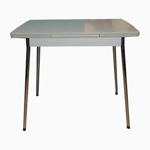 Mid-Century Extendable Chrome and Resopal Dining Table