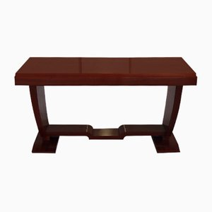 Art Deco Rectangular Mahogany Coffee Table, 1930s