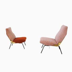 Mid-Century Delfino Lounge Chairs by Erberto Carboni for Arflex, 1950s, Set of 2