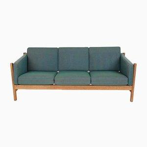 Mid-Century 3-Sitzer Modell 2342 Sofa aus Eiche und Wolle von Børge Mogensen für Fredericia