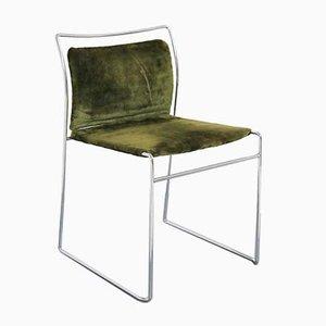 Grüne Modell Tulu Esszimmerstühle aus Samt von Kazuhide Takahama für Gavina, 1960er, 4er Set
