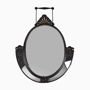 Art Deco French Wrought Iron Wall Mirror by Edgar-William Brandt, 1920s
