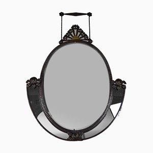Specchio da parete Art Déco in ferro battuto di Edgar-William Brandt, Francia, anni '20