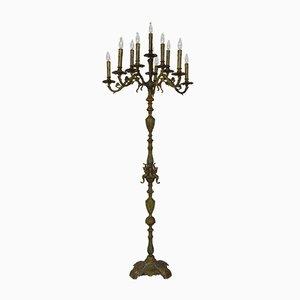 Französische Napoleon III Torchere Stehlampe, 19. Jh