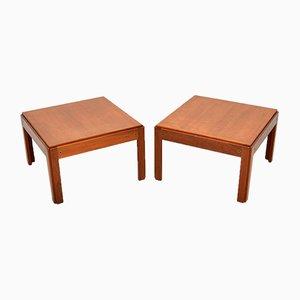 Danish Teak Side Tables by Illum Wikkelso for CFC Silkeborg, 1960s, Set of 2