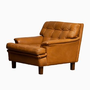 Swedish Buffalo Leather Merkur Chair by Arne Norell for Arne Norell AB, 1960s