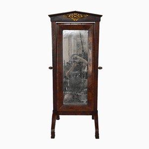 19th Century Empire French Mahogany Cheval Mirror