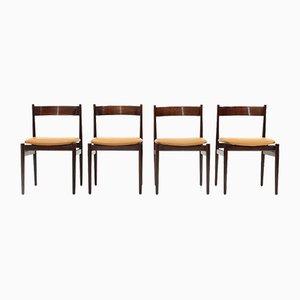 Modell 107 Esszimmerstühle von Gianfranco Frattini für Cassina, 1950er, 4er Set