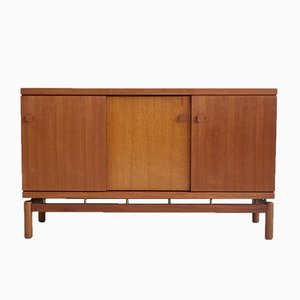 Mid-Century Italian Teak and Brass Sideboard from La Permanente Mobili Cantù, 1960s