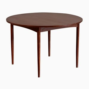 Mid-Century Extendable Round Teak Dining Table by Ib Kofod Larsen for G-Plan, 1960s