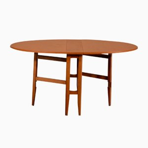 Mid-Century Teak Drop Leaf Dining Table, 1960s