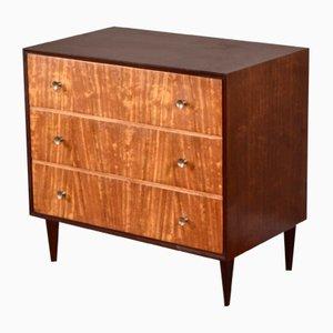 Mid-Century Teak, Tigerwood and Brass Chest of Drawers from Meredew, 1960s