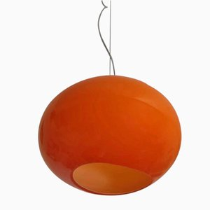 Orange Murano Glass Ceiling Lamp from Vetrarti, 2000s