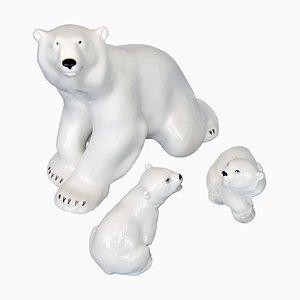 Eisbär Porzellan und Skulpturen von Lomonosov, 1960er