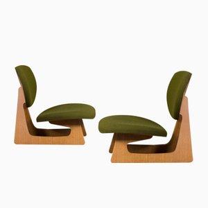 Sillas de comedor Mid-Century de Daisaku Choh & Junzo Sakakura para Tendo Mokko. Juego de 2