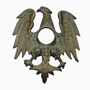Vintage Art Deco Bronze USA Eagle Clock