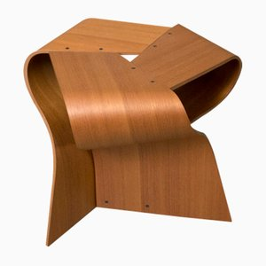 Mid-Century Teak Plywood Mushroom Stool by Yamanaka Group for Tendo Mokko