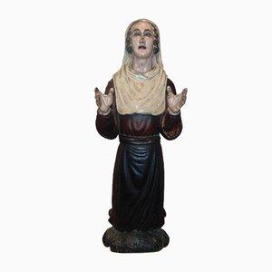 Heilige Saint Veronica Figur aus Holz, 19. Jh