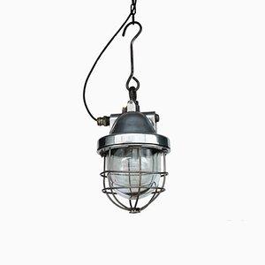 Industrielle Vintage Haken Deckenlampe, 1960er